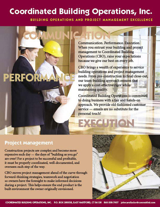 ad for construction management company